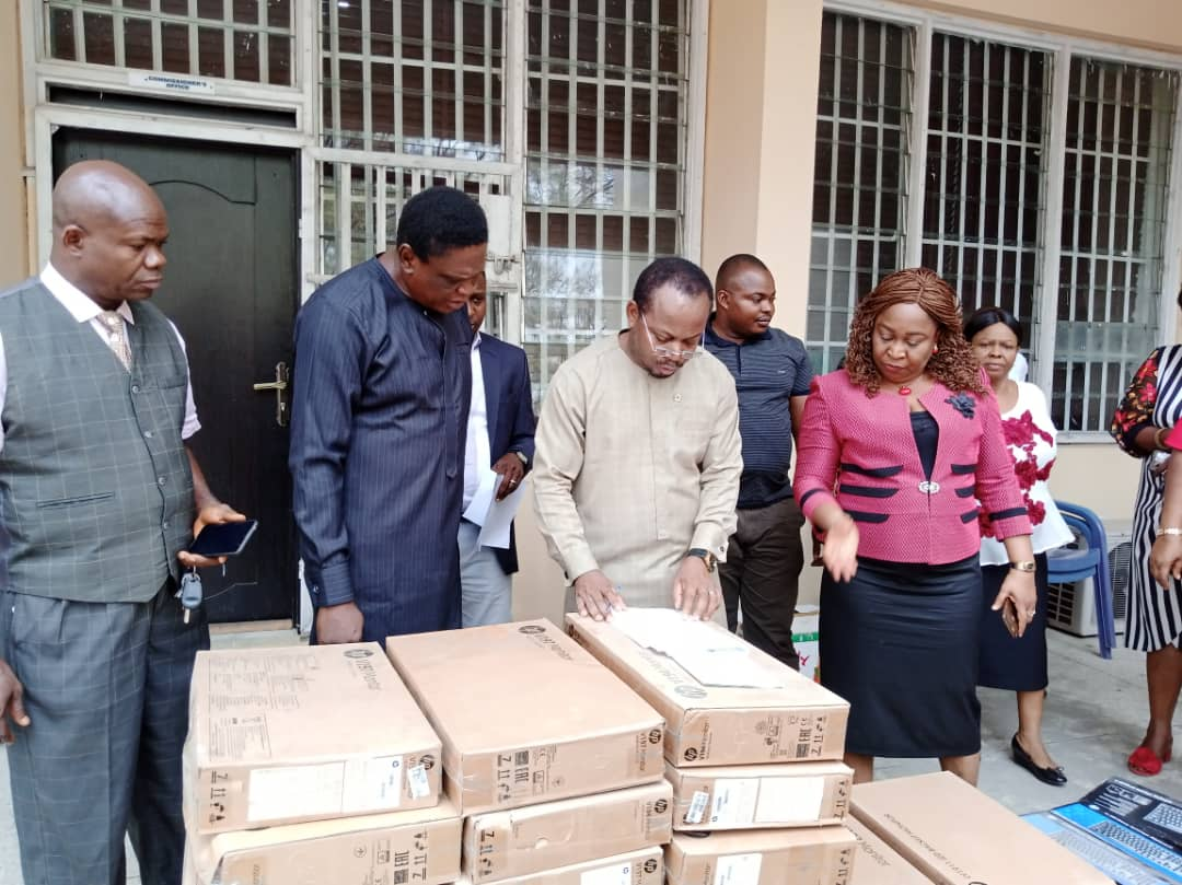 Photos: Ayade donates computers and other equipment to public schools in C'River