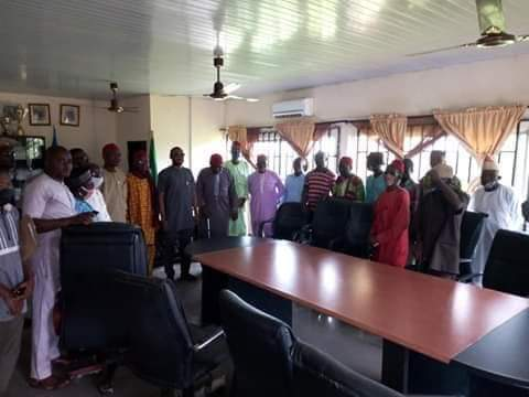 Yala Council Boss, Hon. Fabian Ogbeche receives Royal fathers from Oko-Oroma Clan of Yala Local Government
