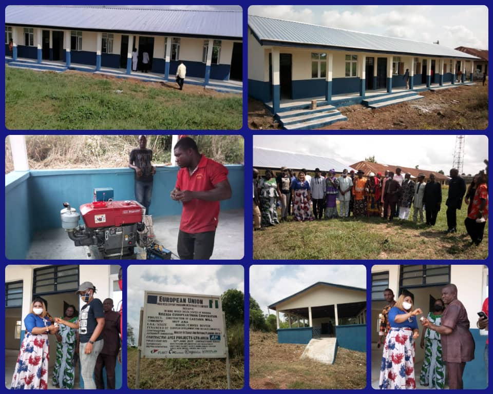 C'River Governor Commissions European Union Assisted Projects in Biase Local Government Area.