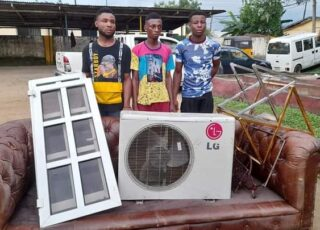 Photos: Police arrest more looters in Calabar, including rapist