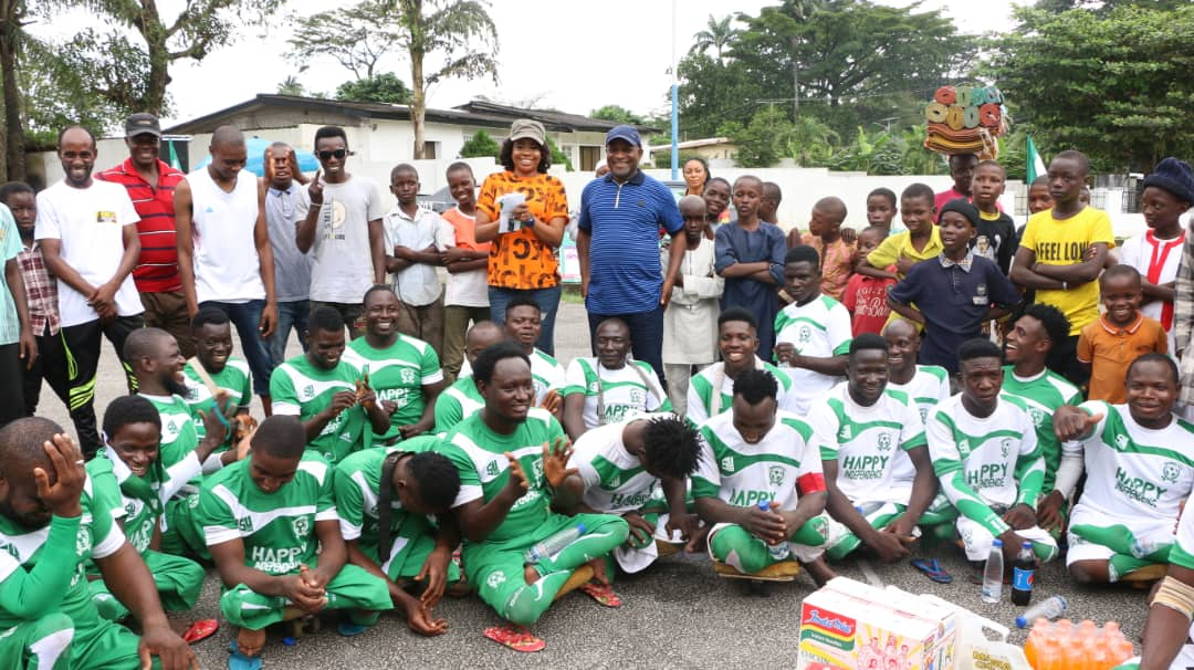 Nigeria@ 60: Inyang Asibong Joins Sports Commissioner to Celebrate Para- Soccer Team In Calabar