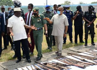 Ayade, EU Destroy 260 Arms, 5510 Ammunitions In Calabar