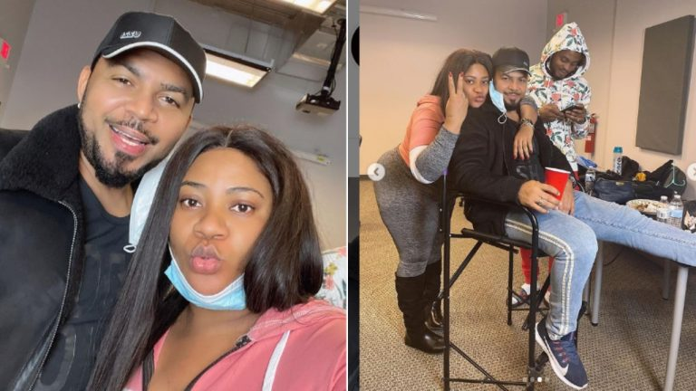 He Is Ageless' – Nkechi Blessing Gushes Over Actor, Ramsey Nouah As They Link Up In America